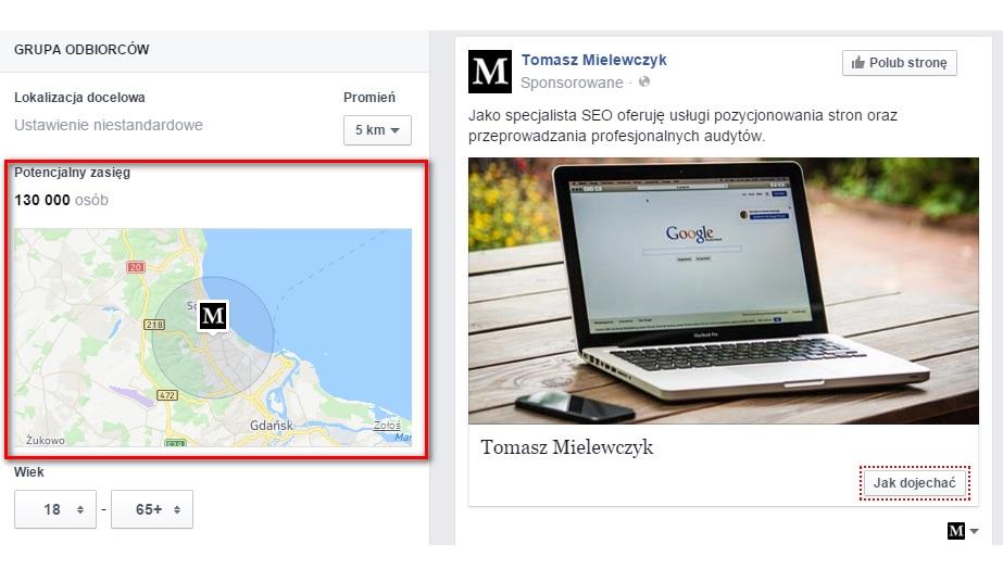 facebook promuj lokalny biznes zasięg
